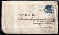 China 1925 10c Junk Boat on cover to UK with unusual London Cancel WS10253