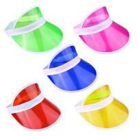 5 x Neon Sun Visor Hat Headband Unisex Cap Golf Sunvisor Stag Poker Party Lot