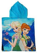 Poncho Reine des Neiges  Elsa et Anna, cape de bain Frozen, bleu neuf