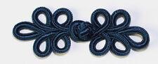 5 PAIA mano Stitches Frog pulsante di chiusura di elementi di fissaggio Colore: Blu scuro #S6