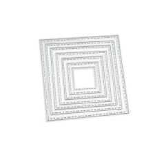 Square Frames Metal Cutting Dies Stencils Set Embossing Album Paper Craft New CN