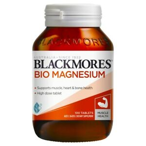Blackmores Bio Magnesium 100 Tablets High Dose 301.5mg Magnesium Muscle Health