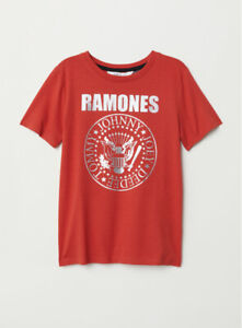 Boy's H&M Red Ramones Band Tee Shirt T-shirt  Size 8 9 10