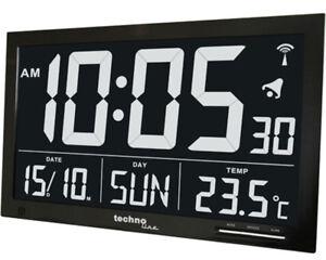 Technoline WS 8007 Jumbo XXL Funkwanduhr digital LCD Wanduhr Datum Temperatur