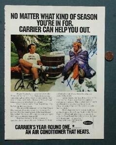 NFL HOF Fran Tarkenton-Roger Staubach AUTOGRAPHED-SIGNED 1977 Magazine Ad Photo!
