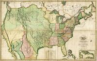 MAP ANTIQUE MELISH 1816 NORTH AMERICA HISTORIC LARGE REPRO POSTER PRINT PAM1049