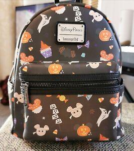 Loungefly Disney Parks Halloween Snacks Treats Backpack BNWT