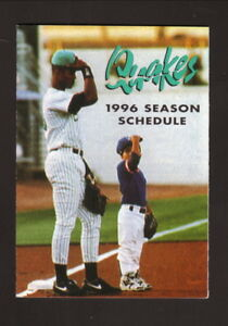 Rancho Cucamonga Quakes--1996 Pocket Schedule--Coors Light--Padres Affiliate