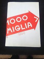 Mille Miglia Participants Map 1994, official Italian organizer issue
