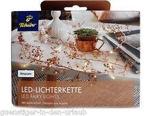 TCM Tchibo LED Lichterkette mit dekorativen Zweigen aus Kupfer Licht Lampe