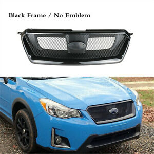 Front Bumper Center Grille Mesh Black Fit For SUBARU XV Crosstrek 2013-2017
