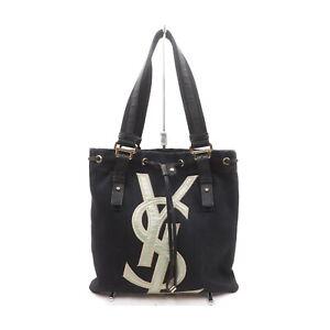 Yves Saint Laurent Tote Bag  Black Canvas 1135145