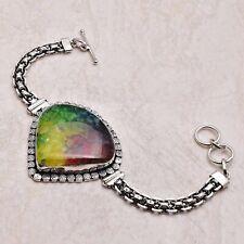 Handmade Bracelet 36 Gms Ab 45576 Rainbow Solar Quartz Ethnic Gift Jewelry