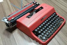 OLIVETTI UNDERWOOD LETTERA 32 TYPEWRITER SALMON W/ CASE WORKING