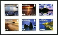 GUERNSEY 2010 ABSTRACT GUERNSEY SELF ADHES SET OF ALL 6 COMMEMORATIVE STAMPS MNH