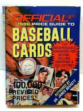"Official Baseball Cards Book 1986 ""100,000 Prices Guide"" 5 1/2"" X 4 1/8"" (G15)"