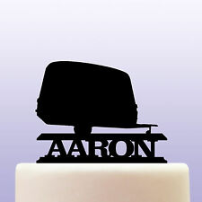Personalised Acrylic Caravan Mobile Home Trailer Cake Topper Decoration