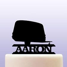 Personalised Acrilico Caravan Camper Rimorchio Cake Topper Decorazione
