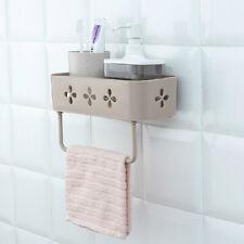 Home Kitchen Bathroom Wall Storage Rack Organizer Shelf Basket Shampoo Holder