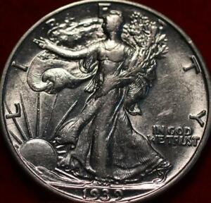 Uncirculated 1939-S San Francisco Mint Silver Walking Liberty Half