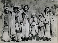 CHINE Photo Presse Shin Pao Femmes et enfants Vintage 9x13cm, ca 1925
