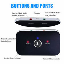 Bluetooth Transmitter & Receiver Stereo Audio Adapter For Bluetooth Headphone TV