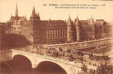 France Paris - The Conciergerie and the Pont au change carriages animee cars CPA
