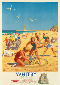 Whitby North Yorkshire 228 Vintage Railway Art Poster