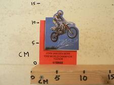 STICKER,DECAL JOHN VAN DEN BERK YAMAHA YZ250 M 1988 WORLD CHAMPION MX CROSS A