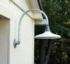 2  Vintage Barn Light Porcelain Enamel Industrial Lights  Gas Station Lights