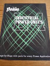 PERKINS L4 INDUSTRIAL POWER UNIT ENGINE BROCHURE  jm