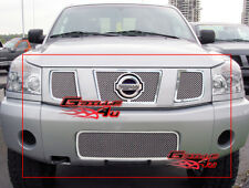 Fits 04-07 Nissan Titan/Armada Stainless Mesh Grille Combo