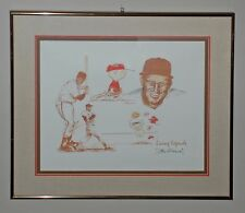 Peanuts Charlie Brown Limited Edition Litho Living Legends Signed by Stan Musial
