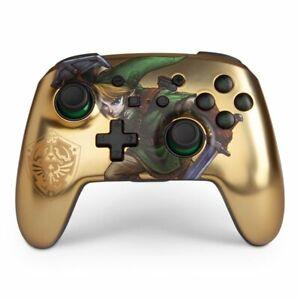 NEW PowerA The Legend Of Zelda Gold Nintendo Switch ENHANCED WIRELESS Controller