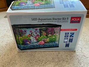 Aqua Culture 5-Gallon Tank w/LED + Accessories KIT
