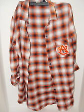 New University Auburn Tigers NCAA Unisex Flare Plaid Long Sleeve Shirt Small