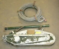 More details for tractel tirfor t35 3000kg winch cable wire rope turfor grip hoist puller