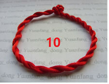 10  x  New Red STRING KABBALAH LUCKY BRACELETS Against Evil Eye for Success