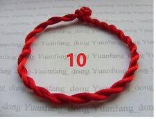 10  x  New Red STRING KABBALAH LUCKY BRACELETS Against Evil Eye for Success
