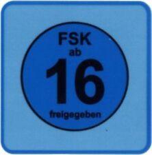FSK 16 LABELS 100 Stück - (Label) - STICKER - 3,46 x 3,46 cm für DVD und Blu-ray