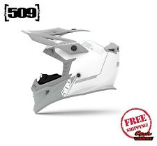 509 TACTICAL SNOWMOBILE HELMET STORM CHASER 2020 WHITE + BREATH BOX DOT ECE