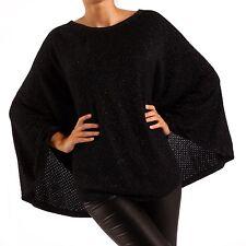 Ärmellose hüftlange Damen-Pullover & -Strickware im Ponchos-Stil aus Viskose