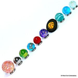 Collectors Mini Solar System Display Marbles Set - 14-22mm Globe Planet Glass