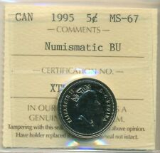 1995 Canada 5 Cent Certified ICCS MS-67, Very Affordable for New Hobbyist