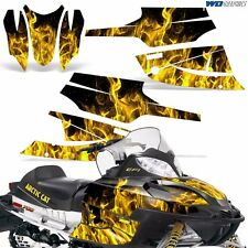 FireCat Arctic Cat Graphic Kit  F5,F6,F7 Sled Sabercat Snowmobile Wrap ICE YLLW