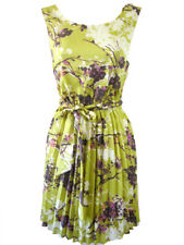Darling Piper Dress Chartreuse Cream XS-XL UK 8-16 RRP �59 Floral Pleated Belt