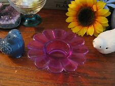 New Purple Flower Shaped Glass Display Ball Sphere Stand