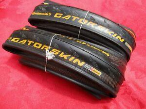 "Continental GatorSkin ""Poly X Breaker"" clincher tires, 700x23C, pair, new"