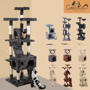 Cat Tree Scratching Post Pole Tower Condo Kitty Activity Bed Stand Scratcher