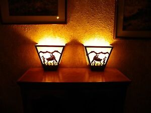 Laser Cut Steel PHEASANT ANYWHERE SCONCE Pair X2  Lamp hunt cabin home decor